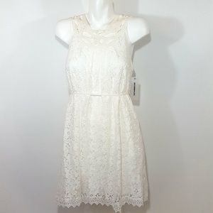 NEW Roommates White Floral Lace Mini Dress S